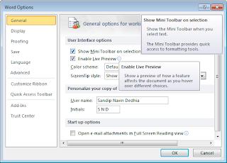 2 কিভাবে Microsoft Office 2010 Word Mini Toolbar & Live Preview Disable করেবন?ছোট কিন্তু 100% দরকারী। | Techtunes Microsoft Office 2010 Word Mini Toolbar & Live Preview