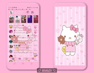 My Hello Kitty Theme For YOWhatsApp & KM WhatsApp By Suely