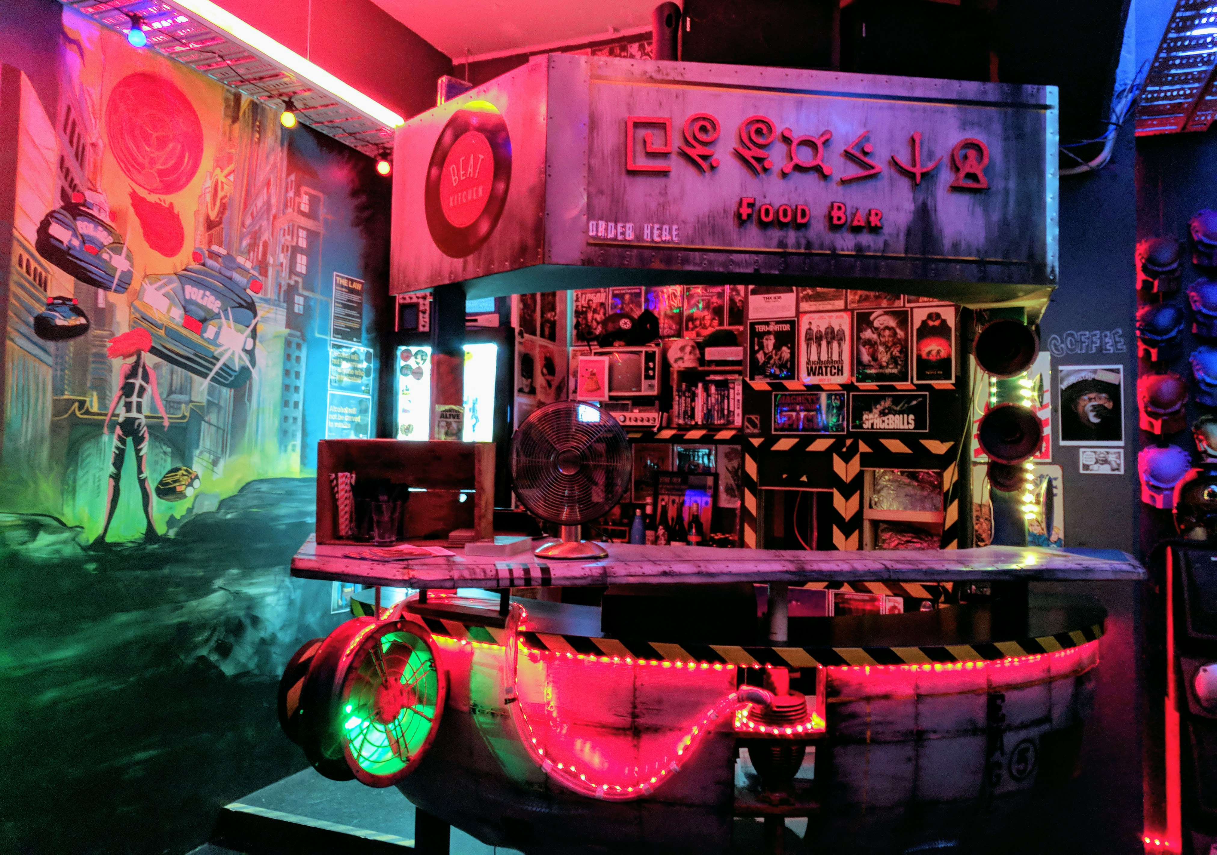 Food Bar at Photonflux (closed Wellington bar)