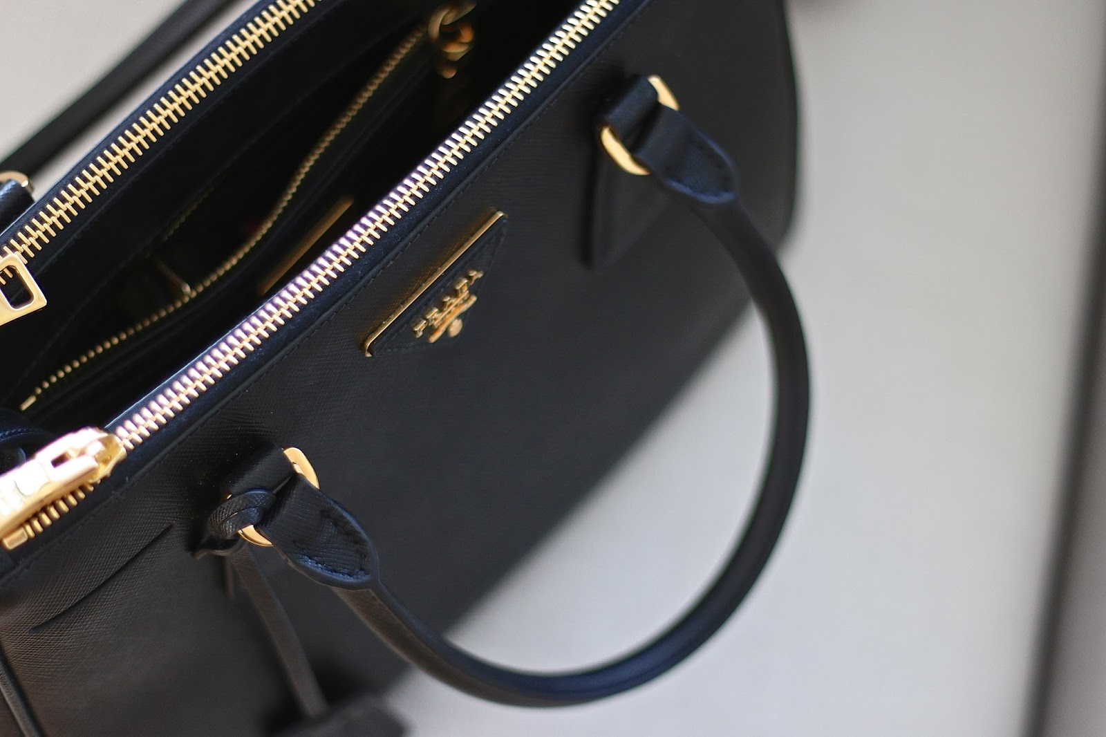Prada Saffiano Double Zip Handbag Review