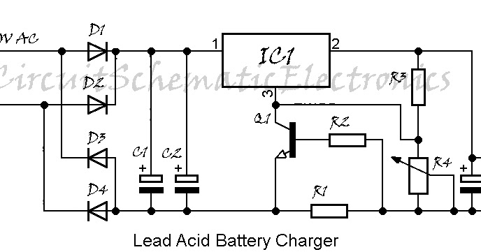 Battery Charger LM317 Circuit Diagram
