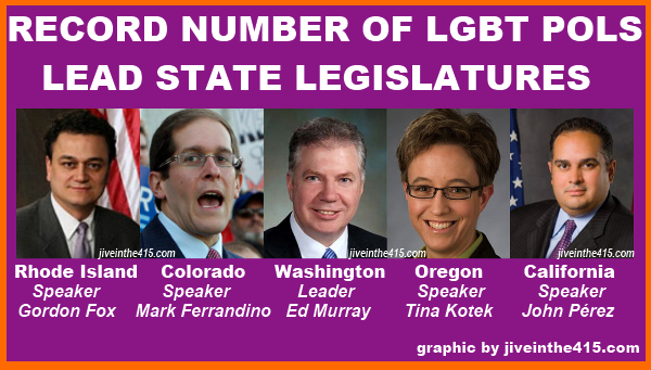 Lesbian Gay Bisexual Transgender Americans have been elected to a record number of state legislatures