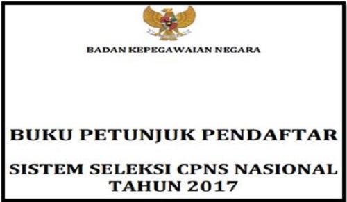 Buku Panduan Pendaftar CPNS Tahun 2017
