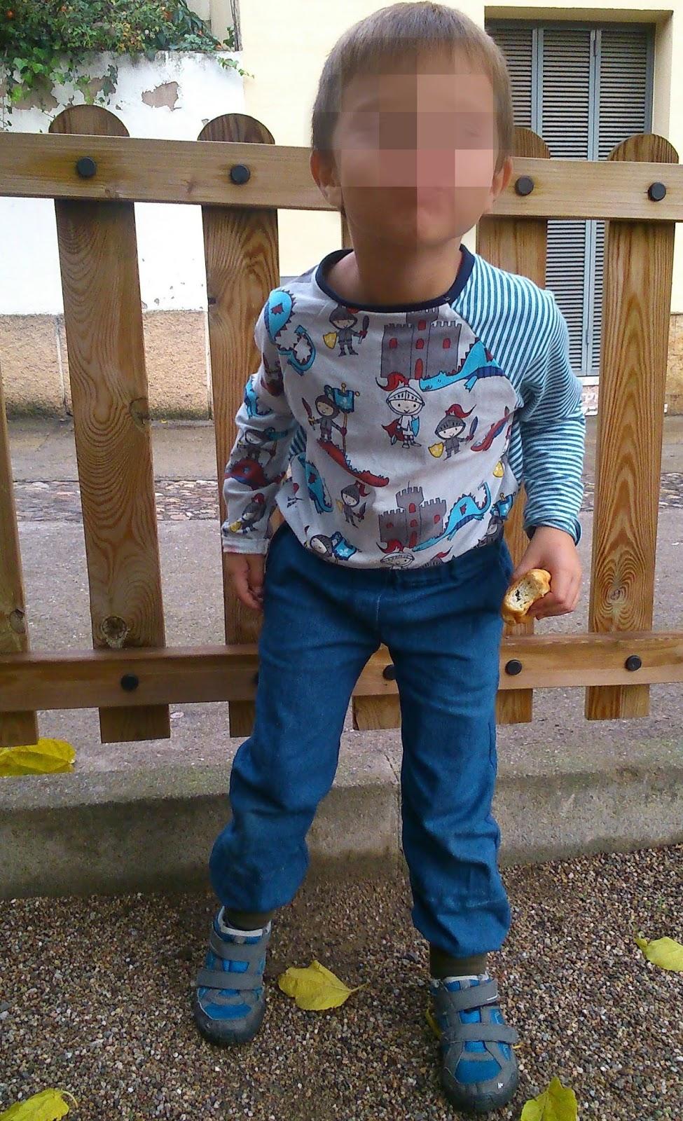 pantalón y camiseta niño handmade