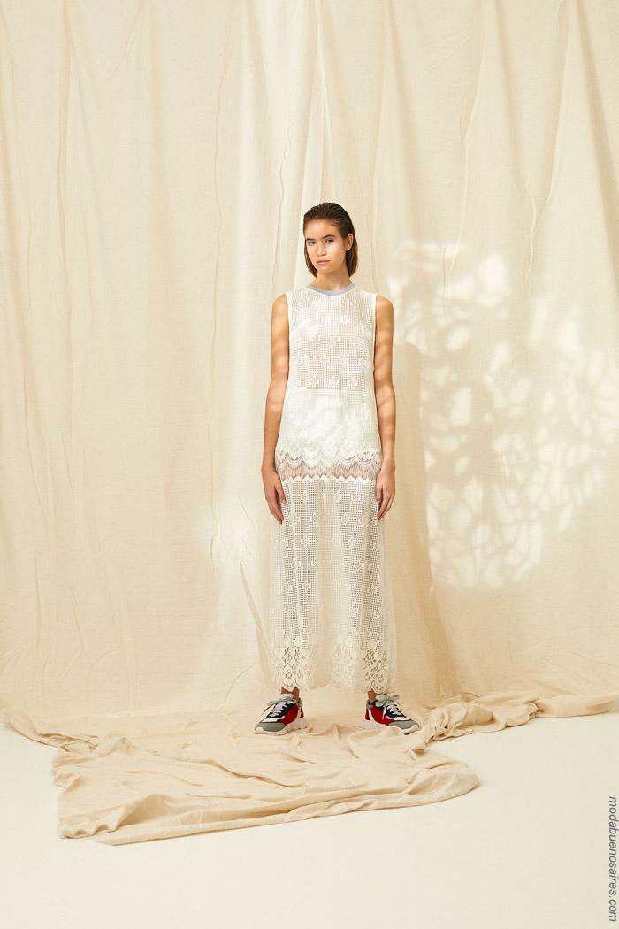 Vestidos primavera verano 2020 calados laser moda 2020.