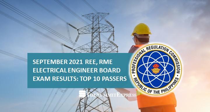 TOP 10 PASSERS: September 2021 Electrical Engineer REE, RME
