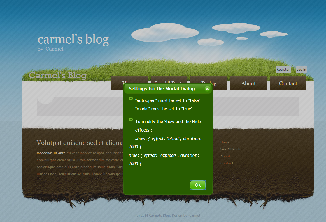 The ASP NET MVC Club: Step By Step How to create a Modal JQuery UI