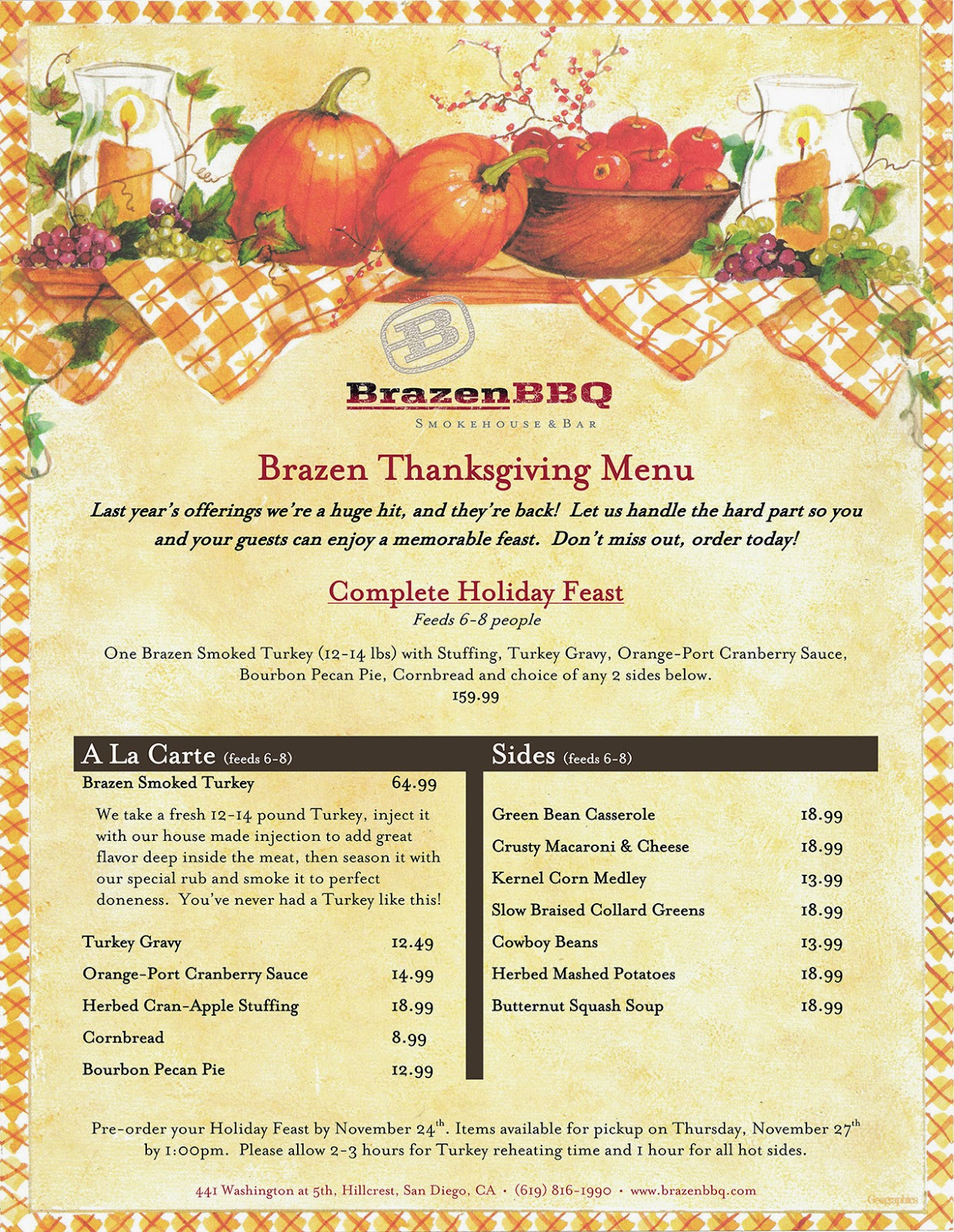 Thanksgiving All Year Long: SanDiegoVille: Treat Yourself To A Relaxing Thanksgiving