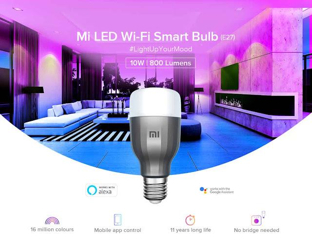 MI LED Wi-Fi Smart Bulb (E27) Review : Best Smart Bulb Under Rs. 1299