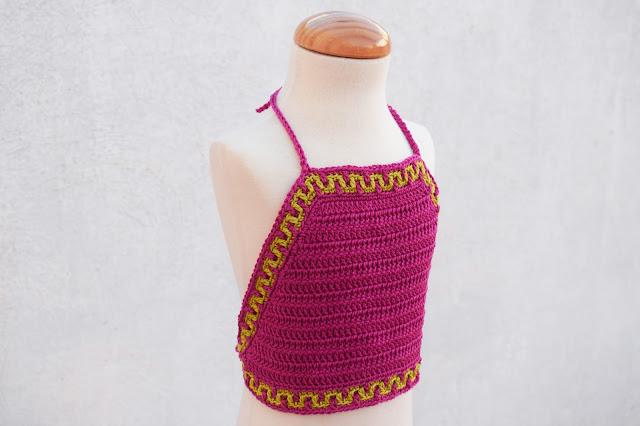 1 - Crochet Imagen Top halter de verano a crochet y ganchillo por Majovel Crochet