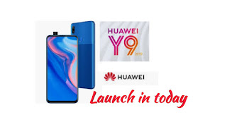 Huawei Y9 mobile first pop-up