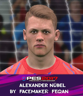 PES 2017 Alexander Nübel Face by Feqan