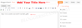 How to add you tube url inside blogger post editor