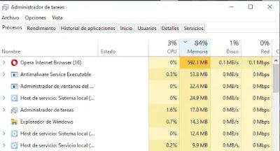 Uso de la red del Administrador de tareas de Windows