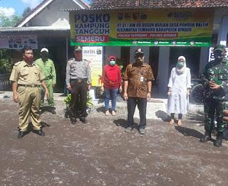 Muspika Semboro Hadiri Simulasi Kampung Tangguh Semeru Covid 19 di Desa Pondok Dalem
