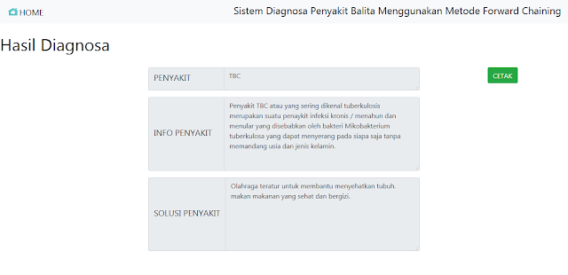 Sistem Pakar Diagnosa Penyakit Balita Metode Forward Chaining