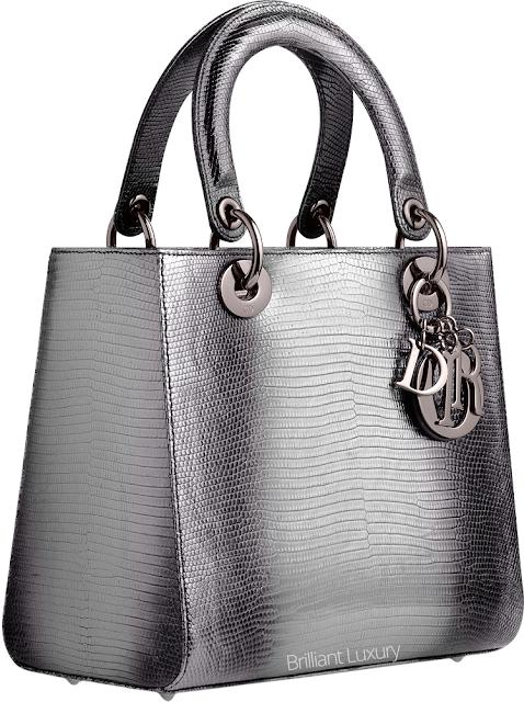 ♦Dior grey shaded lizzard Lady Dior bag #dior #bags #ladydior #brilliantluxury