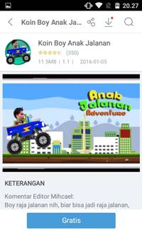 Download Game Koin Boy Anak Jalanan [GRATIS]