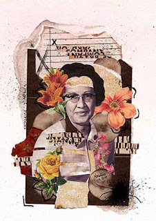 Colagem Katherine Johnson por Maria Rosa