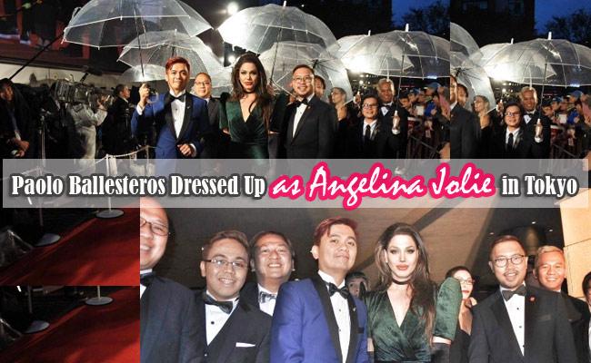Paolo Ballesteros Dressed Up as Angelina Jolie in Tokyo