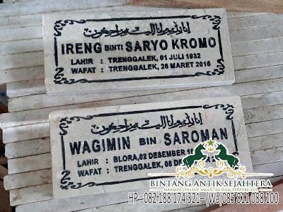 Contoh Nama Di Batu Nisan, Gambar Batu Nisan Kuburan, Prasasti Batu Nisan