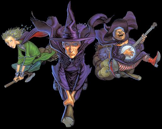 tres brujas feas de fiesta, ilustrciones halloween