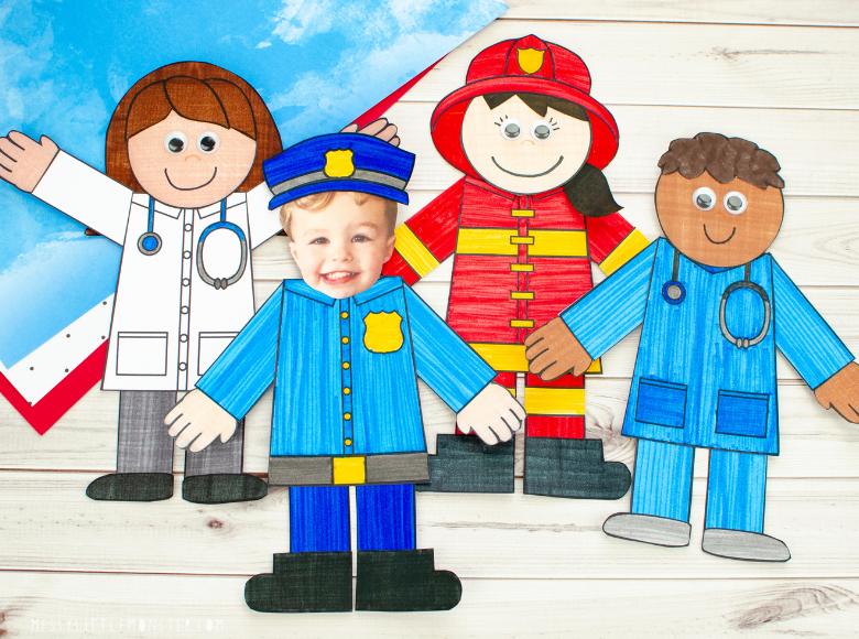 Community helpers preschool craft