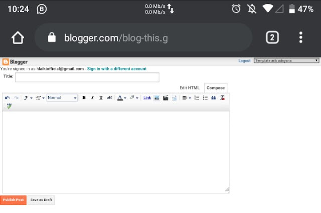 Ngeblog lewat hp dan solusi dari masalah yang sering terjadi (pengalaman pribadi)