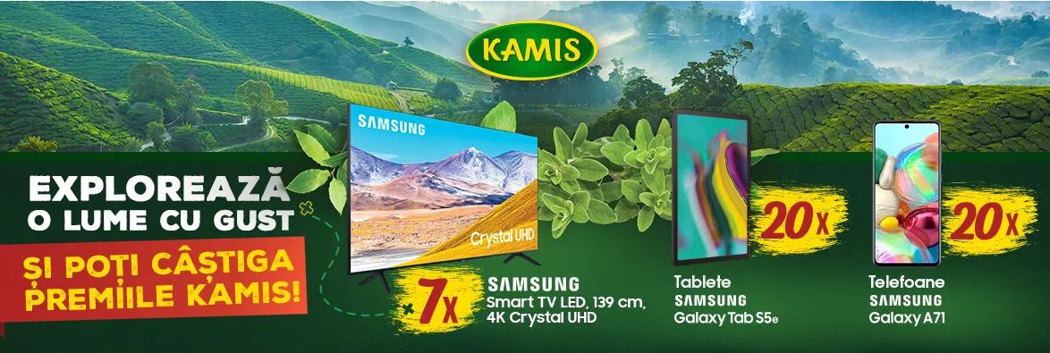 Concurs Condimente Kamis 2020 - Castiga 10 televizoare Samsung Smart Led, 4K Crystal UHD - castiga.net