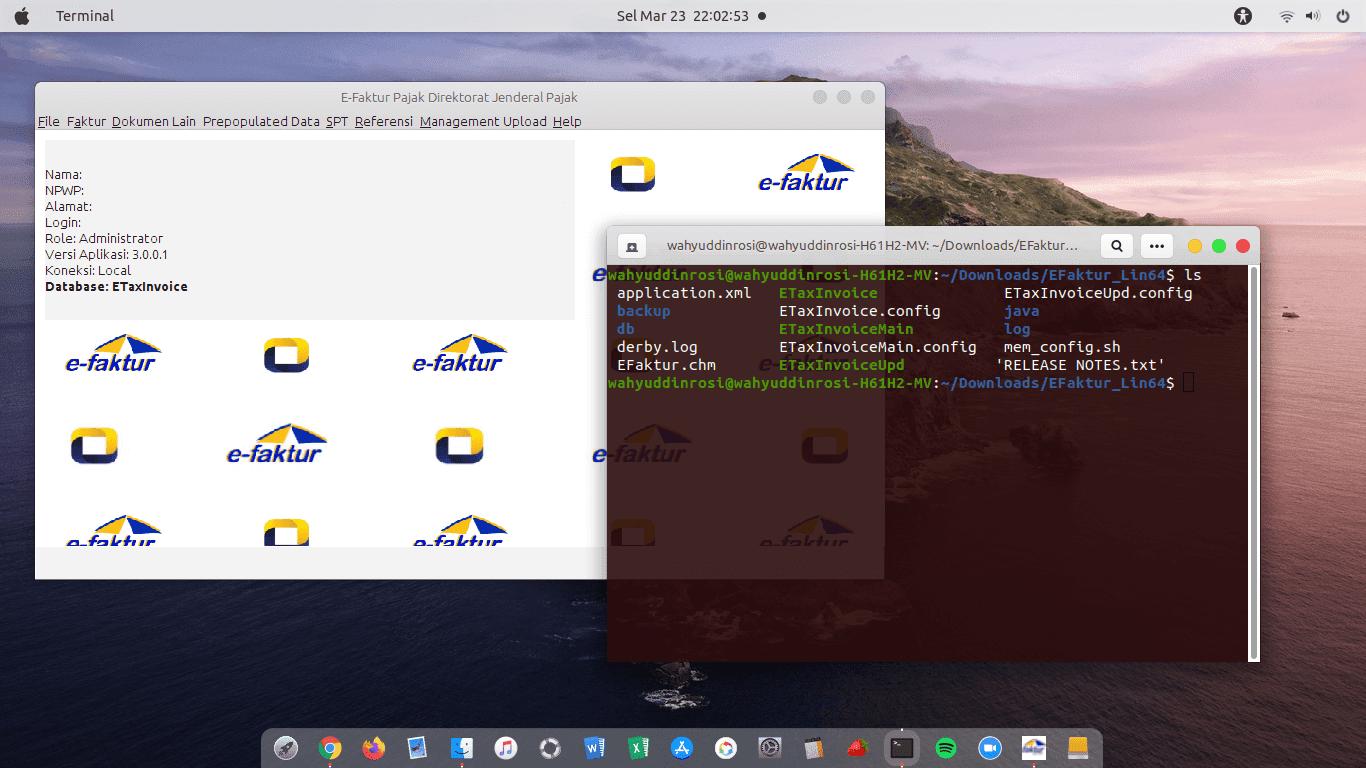 cara install efaktur di linux
