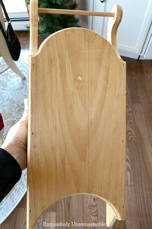 Unpainted Wood Sled