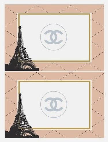 Kit de Chanel para Imprimir Gratis.   Ideas y material gratis para ...