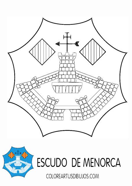 colorear bandera de Menorca