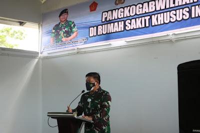 Pangkogabwilhan I Peduli dan Berbagi di RSKI Pulau Galang Batam