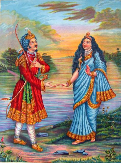 गंगा और शांतनु का मिलन और गंगा की