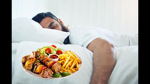 food with sleep