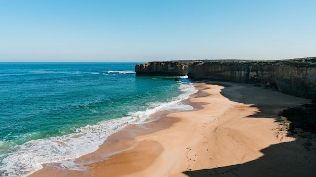 Wallpaper beach shore, cliff, sea