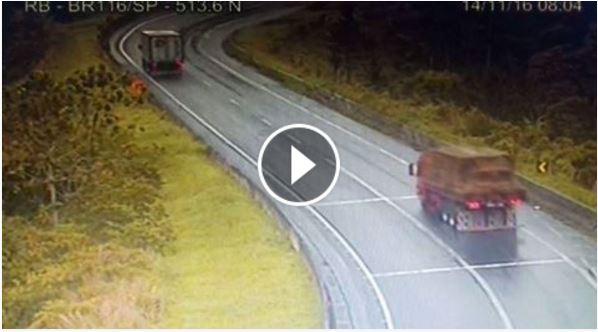 Vídeo da Auto Pista Régis Bittencourt mostra acidente com carro deste 14/11
