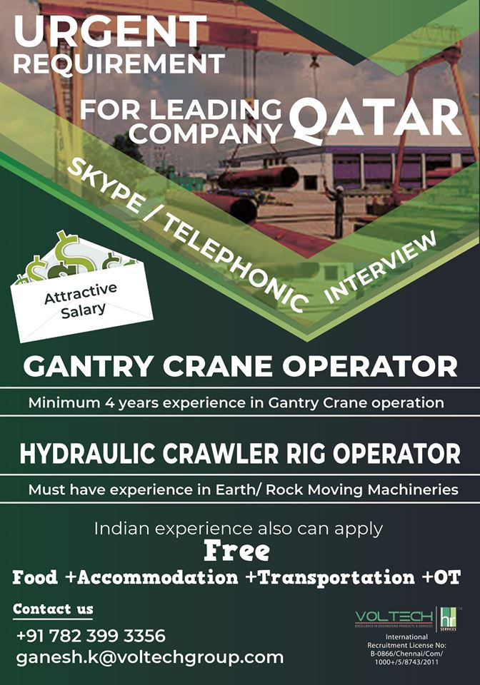 Requirement for leading company in Qatar