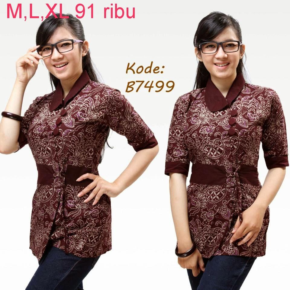 Contoh Baju Batik Guru: Model Baju Batik Untuk Kerja Kantor