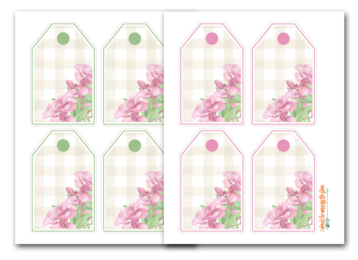 Watercolor Printable Gift Tags with Oleander