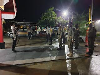 Pendisiplinan Protokol Kesehatan Polsek Daik Lingga Lakukan Patroli Gabungan