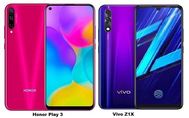Huawei Honor Play 3 Vs Vivo Z1X Specs Comparison