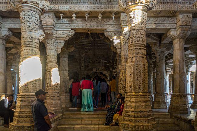 Garbhgriha and the devotees - Ranakpur Jain Mandir