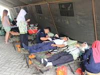 Yonif Para Raider 503 Laksanakan Donor Darah