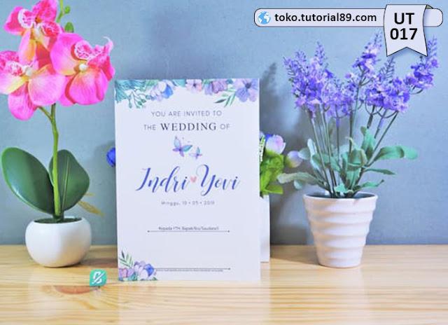 Undangan pernikahan UT017 - Lipat Tiga Potrait +free kartu ucapan terima kasih