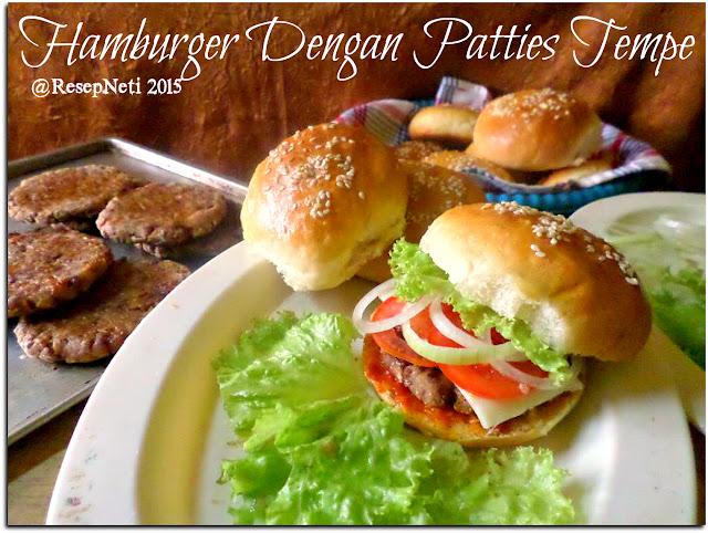 Resep roti burger di dapur kusNeti 2015