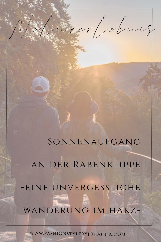 sonnenaufgang an der Rabenklippe in bad Harzburg-fashionstylebyjohanna