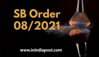 SB Order 08/2021 pdf download