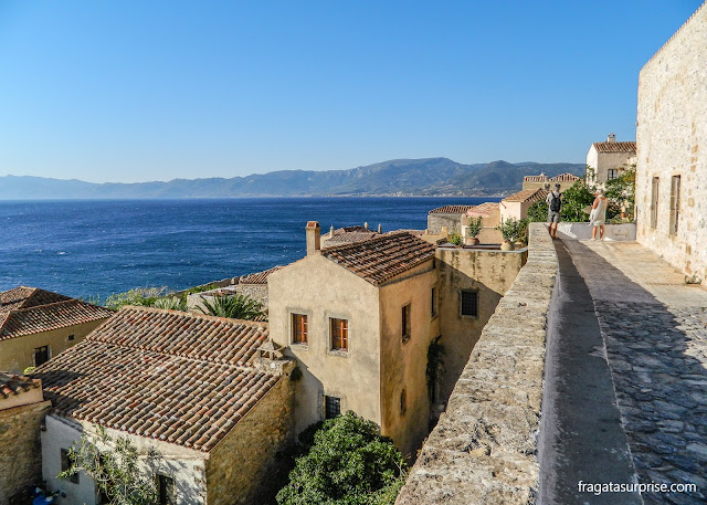 Vila medieval de Monemvasia, Peloponeso, Grécia